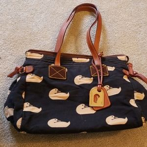 Dooney and bourke black canvas duck bag